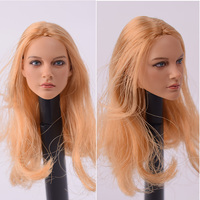 1/6 Scale Head Sculpture Model Carving Blond Doll KUMIK 13 12 for 12 Inch Action Figure HT TTL action figure parts collection.