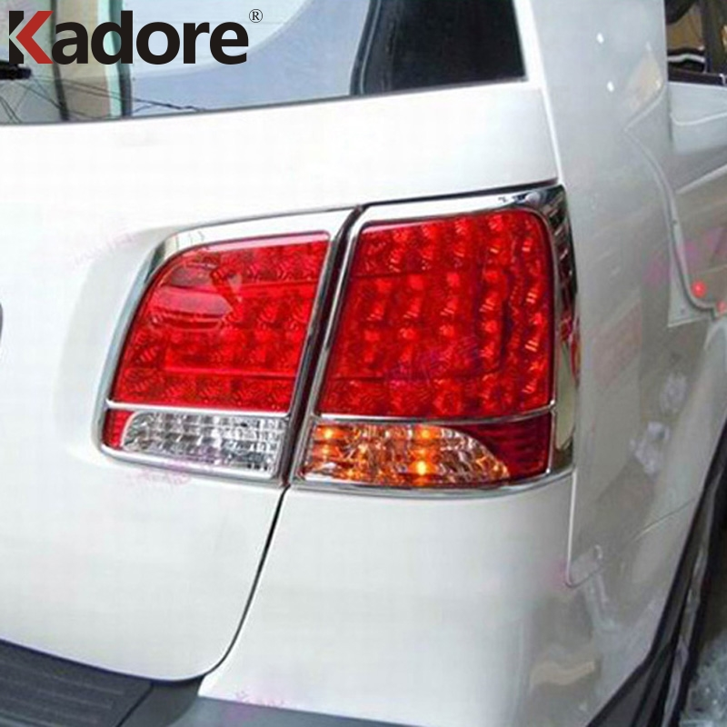 For Kia Sorento 2010-2014 ABS Chrome Rear Taillight Trims Tail Light Lamp Frame Cover Stickers Auto Accessories Styling 4pcs/set цена