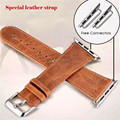 Caballo loco de alta calidad venda de reloj de la venda de reloj de cuero de caballo loco de cuero genuino italia para apple watch pulsera