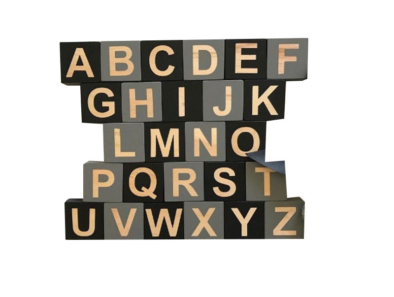 Nordique décoration de la maison en bois massif 26 anglais lettres boîte Cool bébé enseignement accessoires chaud seul produit