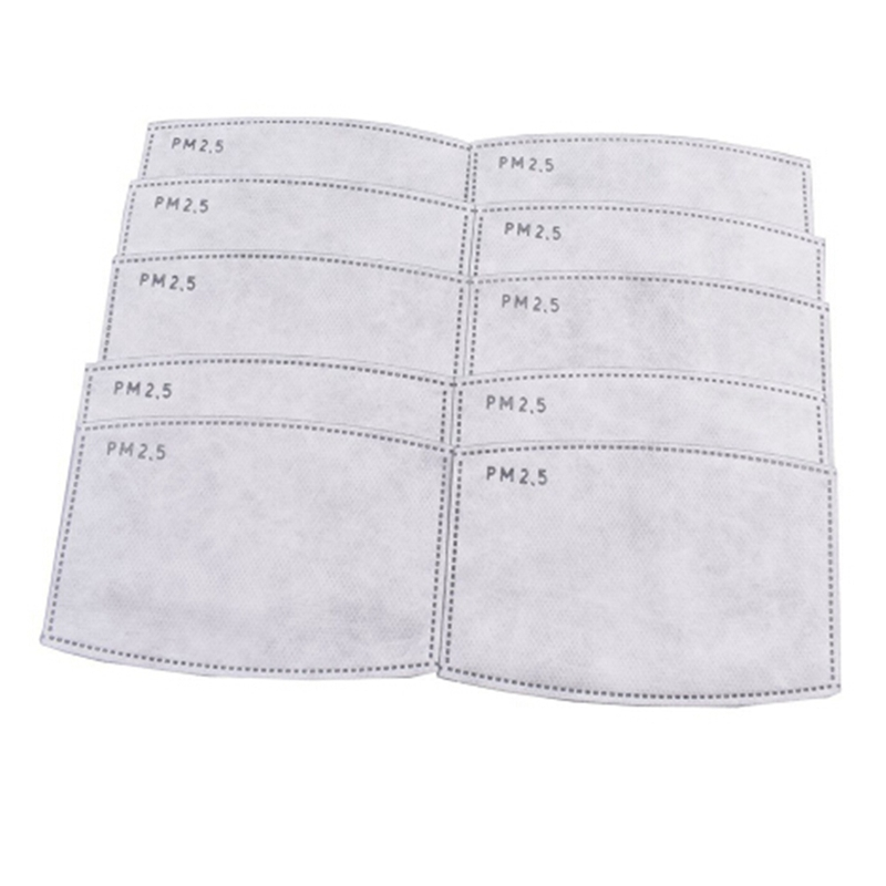 10pcs/set PM2.5 Filter Paper Anti Haze Mouth Mask Anti Dust Mask Filter Paper Health Care Self-use Masks