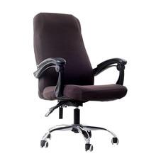 Tamaños S/M/L, cubierta para silla de LICRA elástica de oficina, cubierta para asiento de ordenador antisuciedad, fundas de asiento extraíbles para sillas de oficina