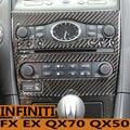 Adaptar para FX35 FX50 Infiniti QX70 QX50EX25EX35EX37 acessórios adesivos emblemas modificação do carro de fibra de carbono guarnição interior