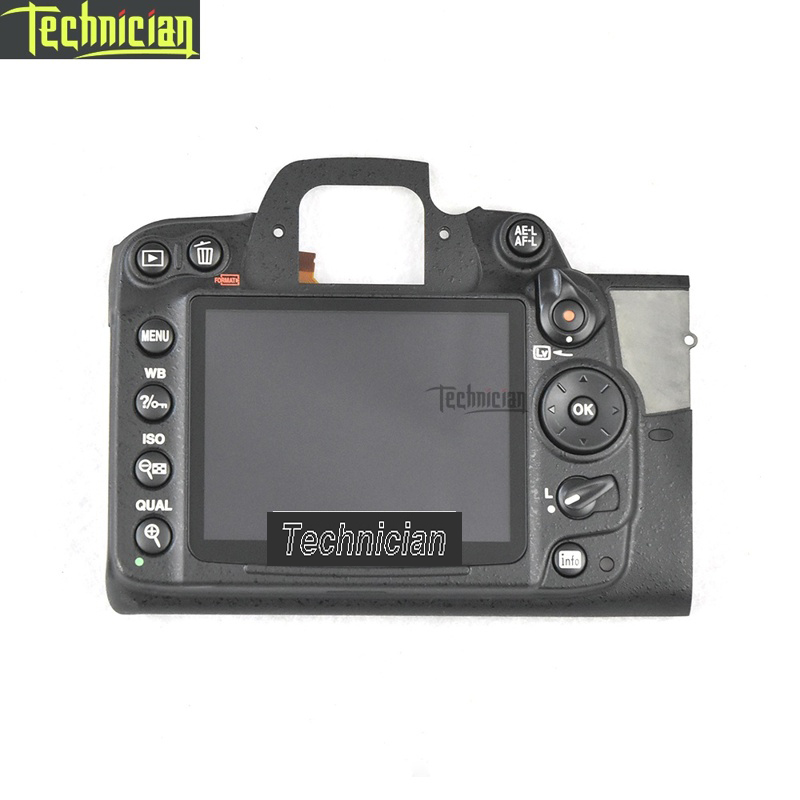 D7000 Rear Back Cover With LCD And Key Button Camera Repair Parts For Nikon