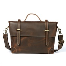 Postman Briefcase Portfolio Office Bags Male Handbag Business Real Leather Shoulder Bag Messenger men Formal Men's Manager Bag