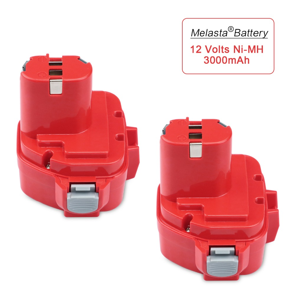 MELASTA 2pcs Upgrade 12v 3Ah NI-MH Replacement Battery for Makita 1220 PA12 1222 1233S 1233SA 1233SB 1235 1235A 1235B 192598-2 аккумулятор metabo 12v 3 0ah ni mh bsz12 bs12sp 6 0215 501