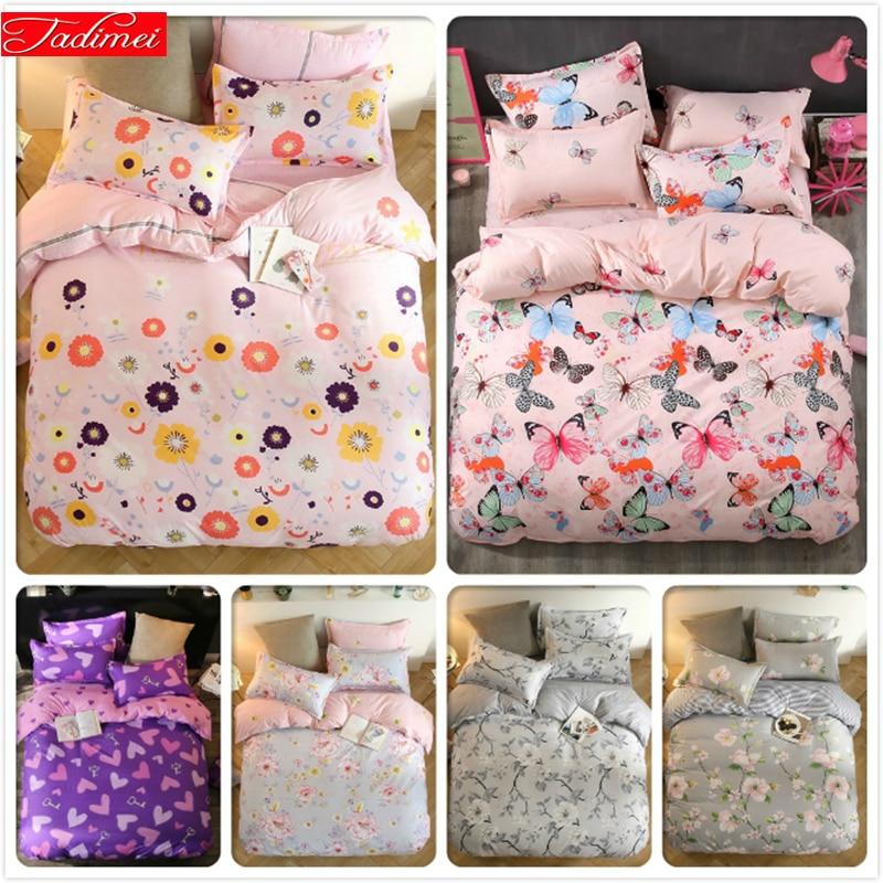 Conjugal Double Queen Twin King Full Size Duvet Cover 3/4 pcs Bedding Set Kids Bed Linen 1.5m 1.8m 2.0m 2.2m 5/6/7 feet Bedsheet|Duvet Cover| |  - title=