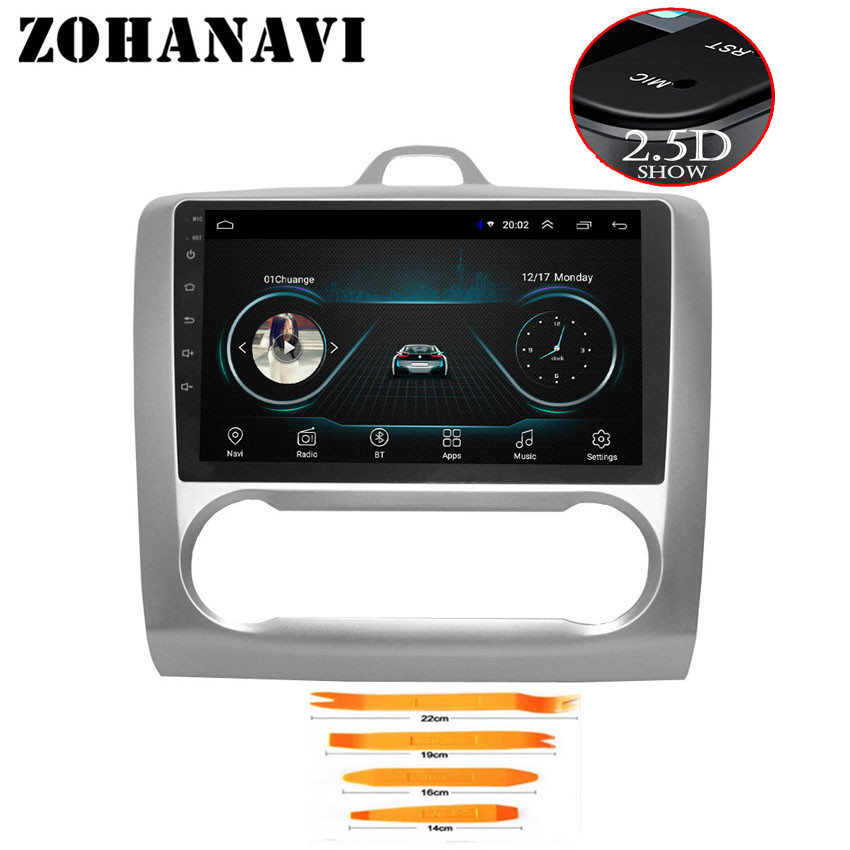 ZOHANAVI 2 5D Screen Android Car dvd gps For Ford Focus 2004 2005 2006 2007 2008
