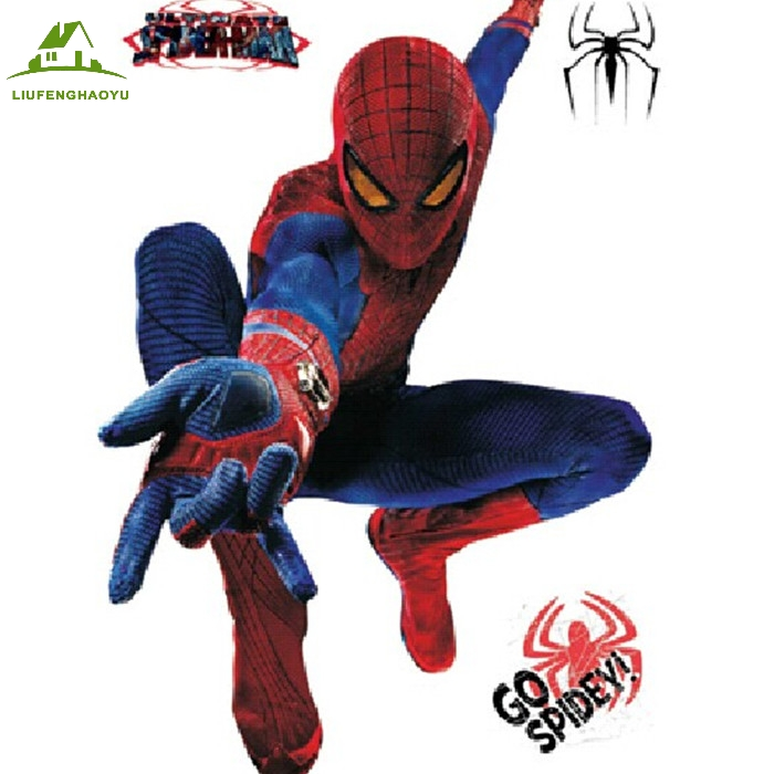 The Amazing Spider Man Cartoon 3d Vinyl Wall Stickers For