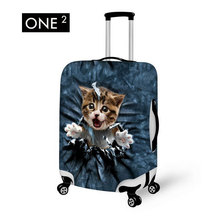 Suitcase Protective Cover Travel Accessories Printing Animal Cat Design Travel Luggage Cover