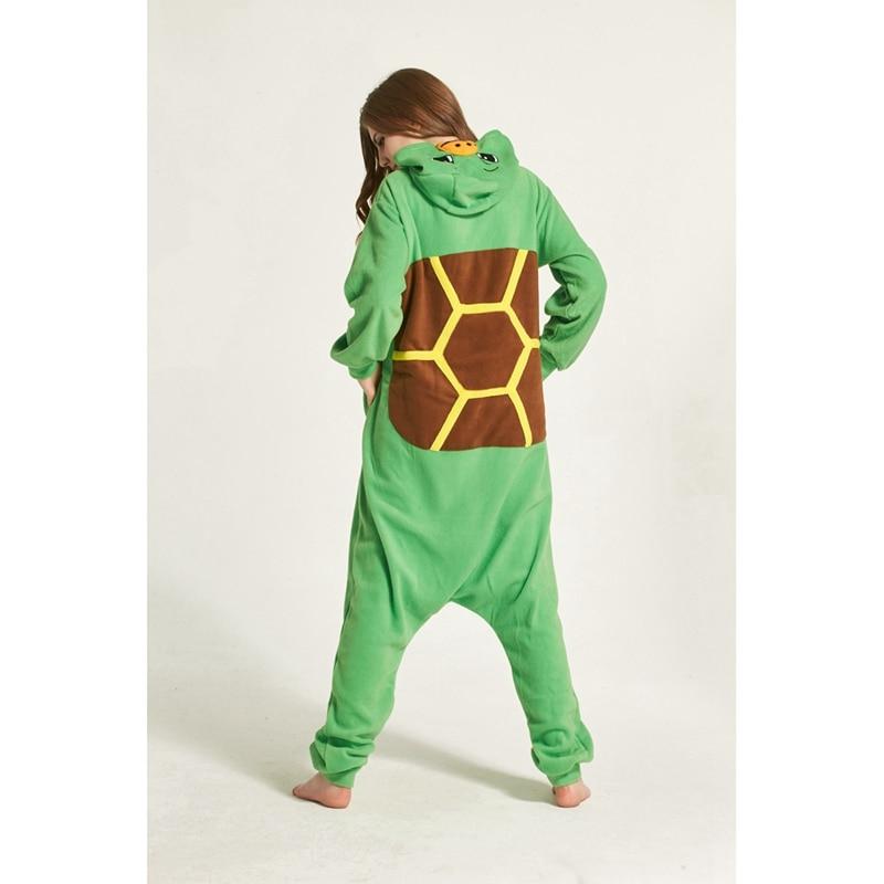 Adults Animal Pajamas Sets Cartoon Sleepwear Cosplay Zipper Women Men Winter Unisex Turtle Pajamas