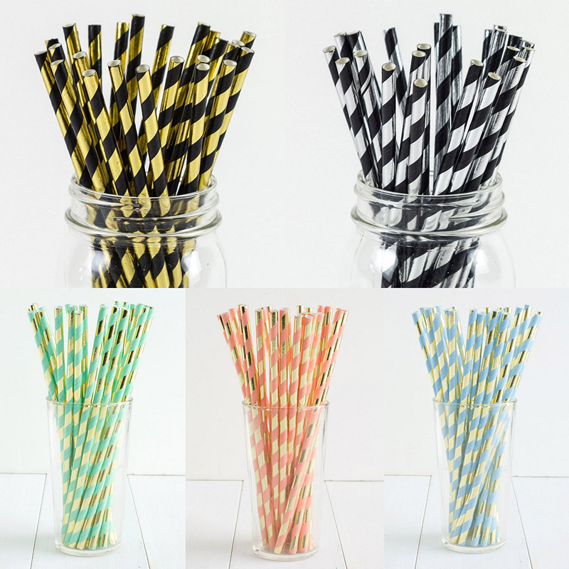 Children's Toys Party Birthday Party Decoration Wedding Favors Straw Star 25pcs Straw The Paper Gold And Silver Foil