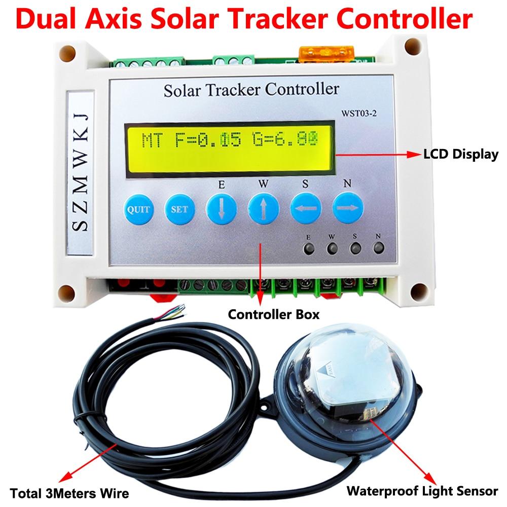 Aliexpress Com Buy Dc 12 24v Dual Axis Solar Tracking