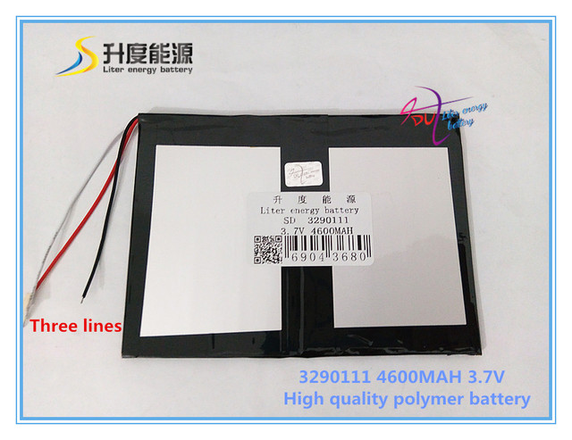 3.7V 4600mAH 3290111 Polymer lithium ion / Li-ion battery for mobile phone tablet pc cell phone POWER BANK e-book