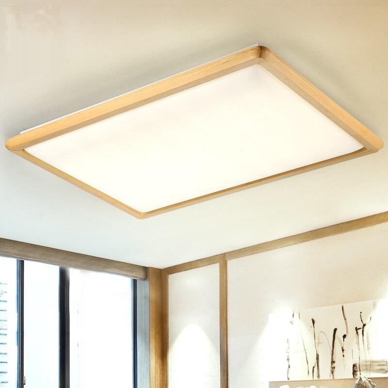 Deckenleuchten Led Chinesische Holz Eisen Acryl Led Lampe Deckenleuchte Für Foyer Schlafzimmer Esszimmer Led-deckenleuchte Led-licht