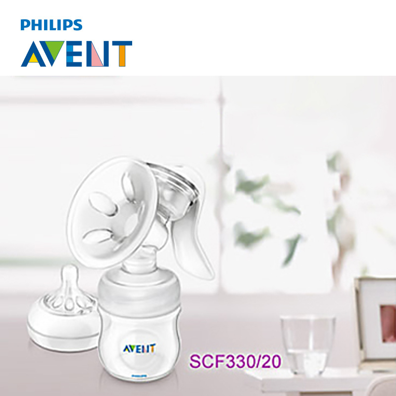 AVENT Manual Breast Feeding Pump Original Manual Breast Milk Silicon BPA Free With Natural Bottle Nipple