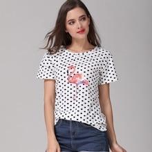 2018 Summer Women's T-Shirts Tumblr Funny Harajuku Kawaii Carton Flamingo Clothing Tee Shirt Femme Plus Size T Shirt Female Tops