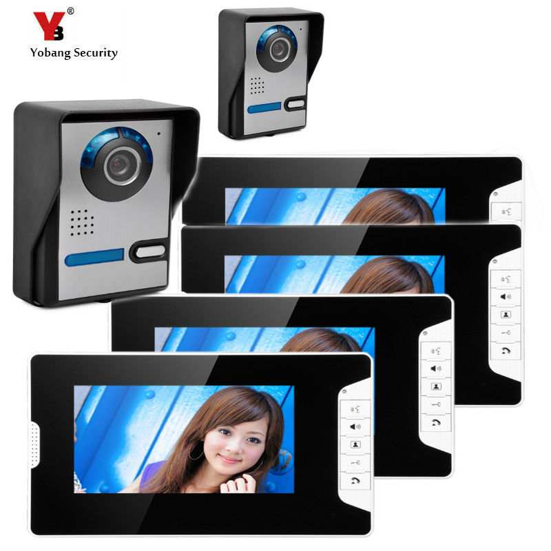 Yobang Security 7 Inch Video Door Entry Phone Call System Video Doorbell Camera Intercom House Families Video Intercom yobang security free ship 7 video doorbell camera video intercom system rainproof video door camera home security tft monitor