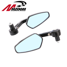 Mzoom Universal CNC Alloy Motorcycle 7/8″ 22mm Handle Handlebar Bar End Mirror For Sportster XL 883 1200