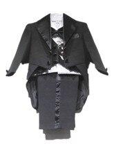 ДЕТСКИЕ WOW Черный Белый 5 ШТ. Новорожденного Мальчика Комплект Одежды Маленькие Костюмы для Крещение Свадьба День Рождения Одежда 90211