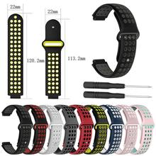 Silicone Replacement Wristband Strap For Garmin Forerunner 230/ 235/220/620/630/735 Smart Watch Soft Comfortable Watch Strap 21mm soft silicone strap replacement watch bands tools lugs adapters for garmin forerunner 230 235 220 watch watch accessories