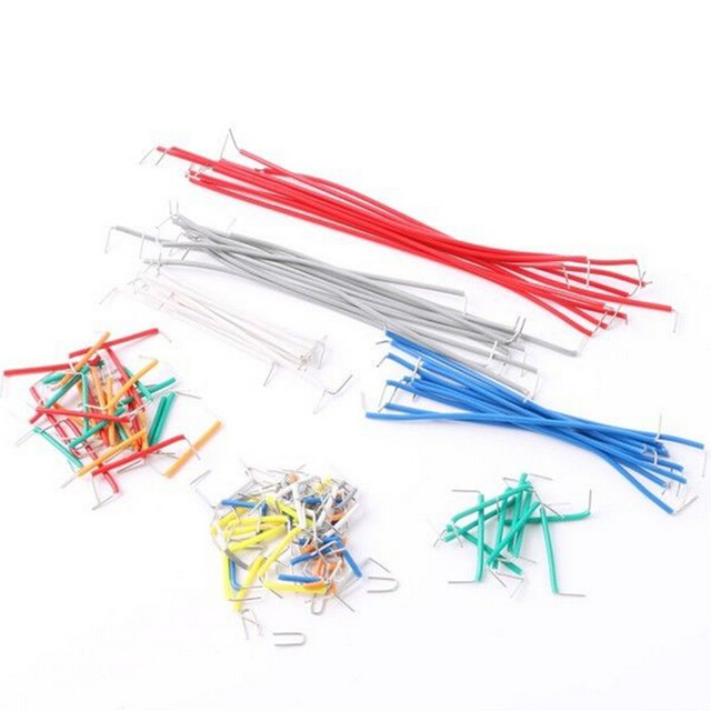 140pcs Solderless Breadboard Jumper 22 AWG Solid Wires Cable Kit 2 ...