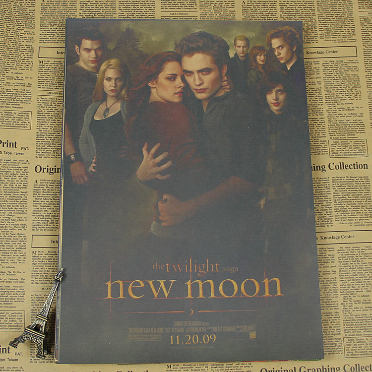 Twilight Kristen Stewart / Robert Pattinson Retro Kraft Paper Movie Poster Painting/wall sticker /kraft poster ...