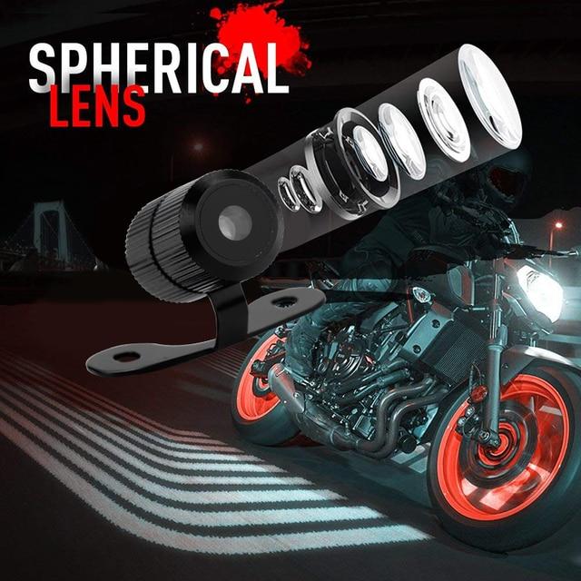 Angel Wings Motorcycle Led Lights Moto Lamp Headlights Bulbs 12V Harley Decor