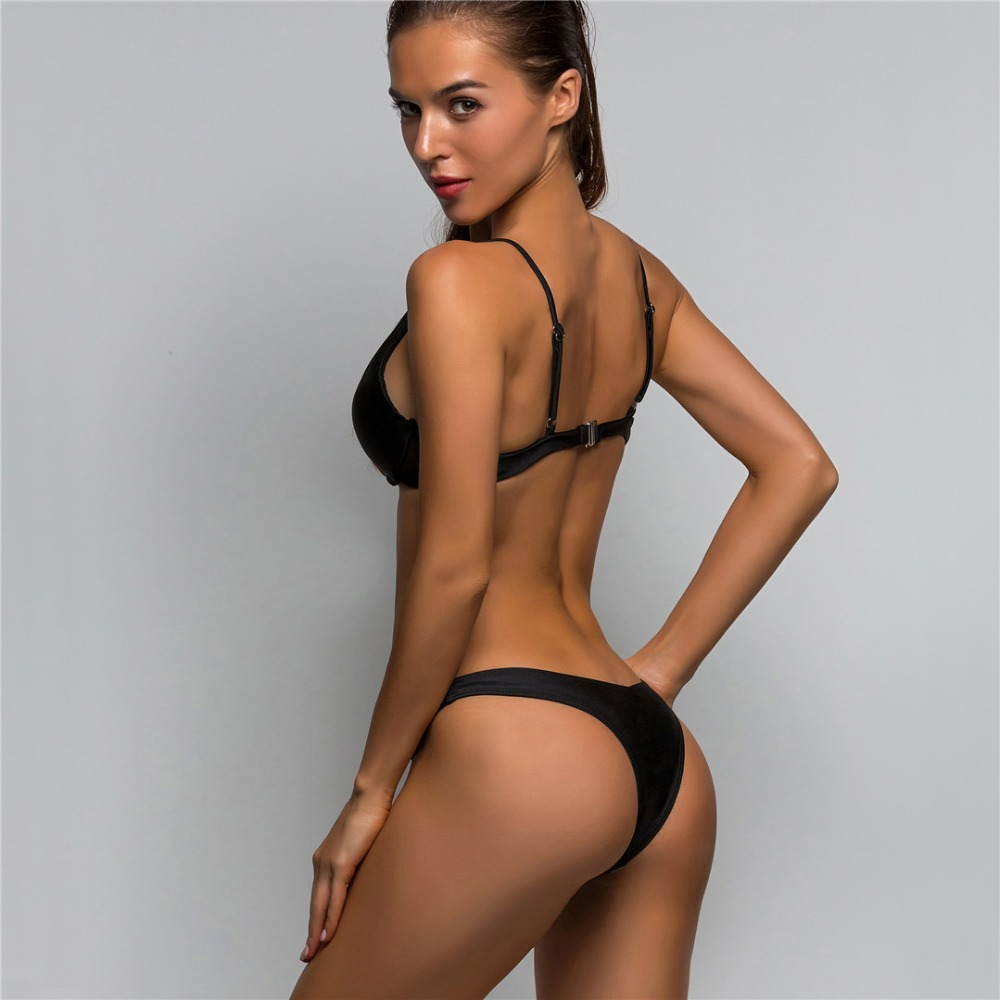 HTB1EyDVt25TBuNjSspcq6znGFXa1 Sexy V-bar Underwired Bikini 2019 Female Swimsuit Women Swimwear Two-piece V shape Wire Bikini set Bather Bathing Suit Swim V439