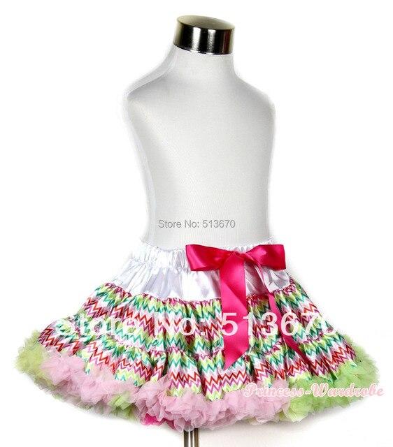 Пасха Railbow волна подряд полный юбка юбка ну вечеринку танец юбки девушки 1-8Y P170