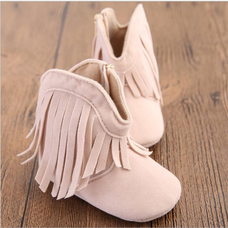 100pair  Newborn Baby Girl  Shoes Lovely Bowknot Tassles Soft Bottom Shoes Infant PU Leather Shoes 10 Colors