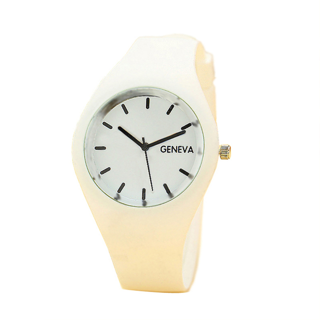 Fashion Women Watches Sports Candy-colored Jelly Ladies Watch Silicone Strap Qua