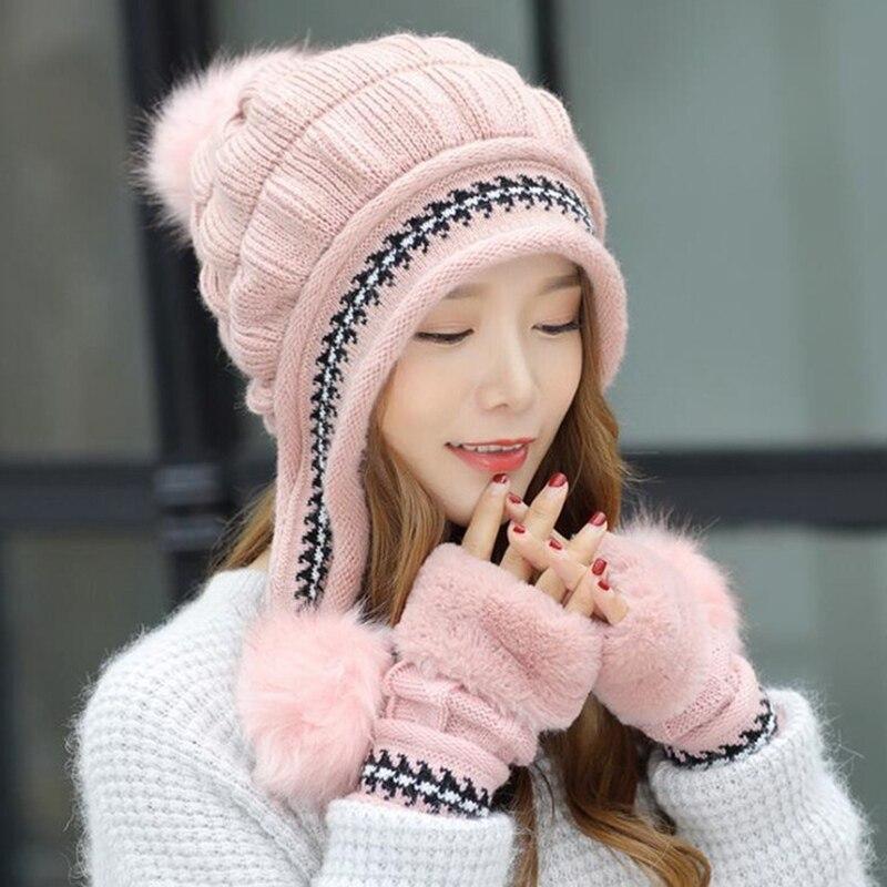 ea5b2ff81aa Fashion-Women-2527s-Winter-Hats-wool-Hats-Knitting-Hat -gloves-set-Ball-Caps-Thick-warm-hat.jpg