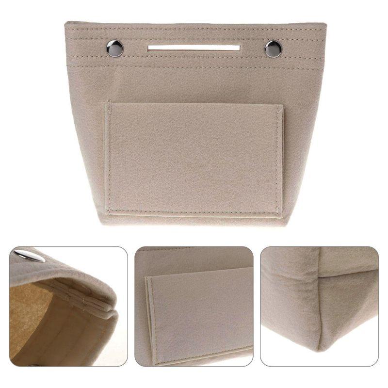 Portable Felt Fabric Insert Handbag Tote Wallet Umbrella Purse Organizer Cosmetic Travel Bag