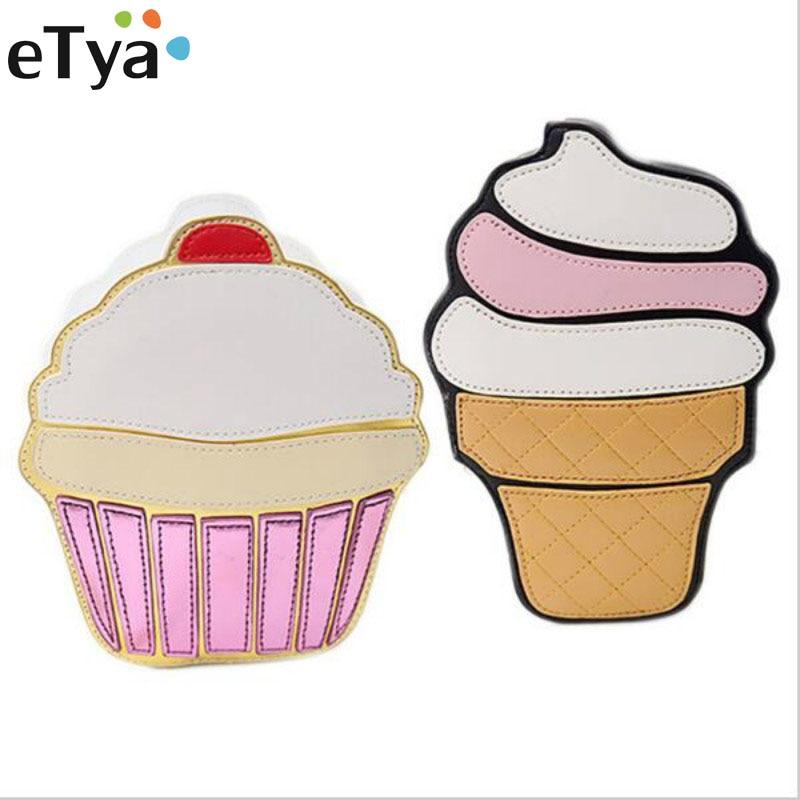 eTya New Cute Ice Cream Cake Bag Small Crossbody Bags For Women Cute Purse Handbags Chain Messenger Bag Party Bag