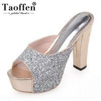 TAOFFEN/4 цвета; женские босоножки на высоком каблуке; шикарная весенне-летняя Свадебная обувь на платформе для свиданий; пикантные женские веч...