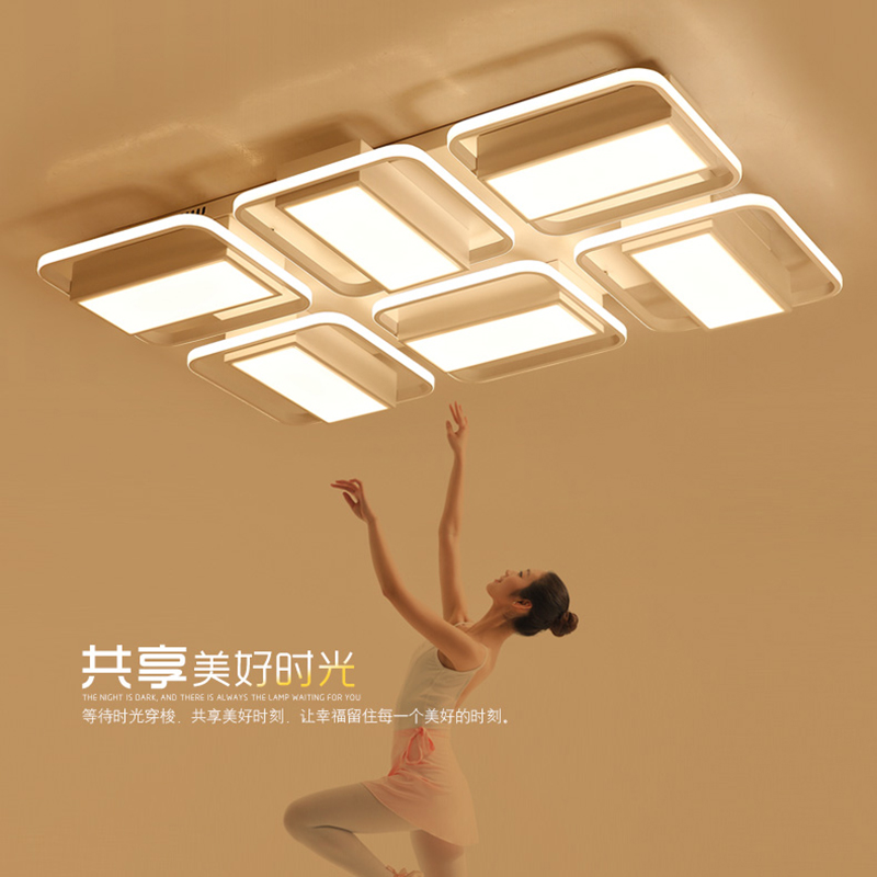 Surface Mounted Rectangle modern led Ceiling Chandelier for living room bedroom lamparas de techo Study Room Ceiling Chandelier rectangle acrylic led ceiling lights for living room bedroom modern led lamparas de techo new white ceiling lamp fixtures