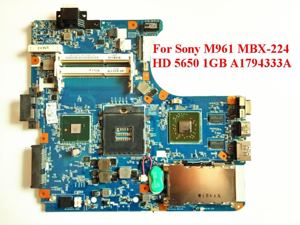 Здесь можно купить  For Sony M961 MBX-224 1P-0106200-8011 Laptop Motherboard HD 5650 1GB A1794333A 100% Tested Fast Ship  Компьютер & сеть