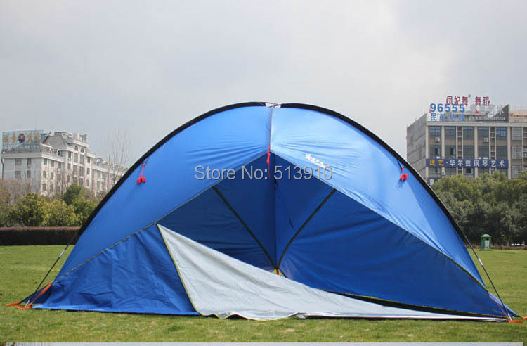 3 murs! tente d'auvent tente de plage tentoriale ultralarge d'ombrage de soleil/compte de chapiteau anti-uv/grande feuille de mouche