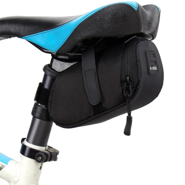 Saco de bicicleta de náilon armazenamento à prova dwaterproof água sela saco assento ciclismo cauda traseira bolsa sela acessórios 1