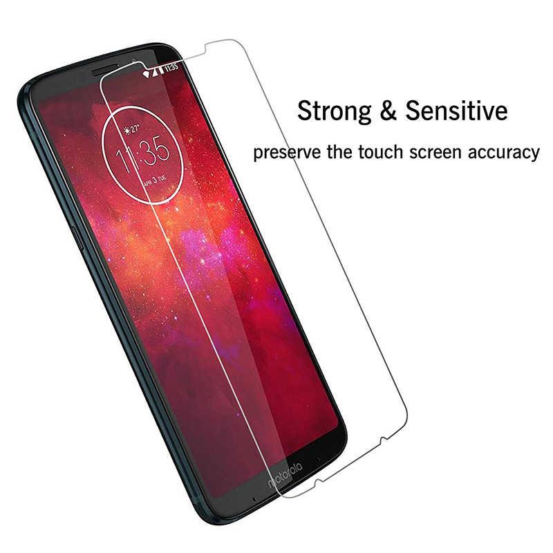 2.5D 9 H Kính Cường Lực cho Motorola Một Tầm Nhìn Điện P30 G7 Note Chơi C Plus Z4 X4 Màng bảo vệ bìa Bảo Vệ màn hình điện thoại