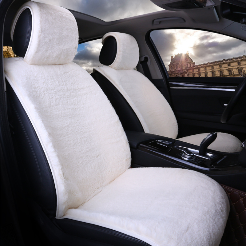 2017 brand new winter car seat cushion universal keep warm seats cover artificial fur plush confortable pads fit for most cars