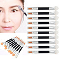 2016 New Arrival High Quality 10Pcs Makeup Double-end Eye Shadow Eyeliner Brush Sponge Applicator Tool kits free shipping