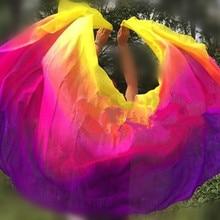 Индивидуальные шелковые вуали для танца живота 200 см 250 см 270 см шарф шаль желтый оранжевый розовый фиолетовый градиент