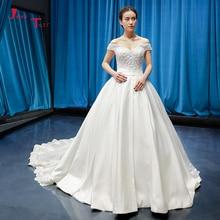 Jark Tozr Short Sleeve Ball Gown Wedding Dress