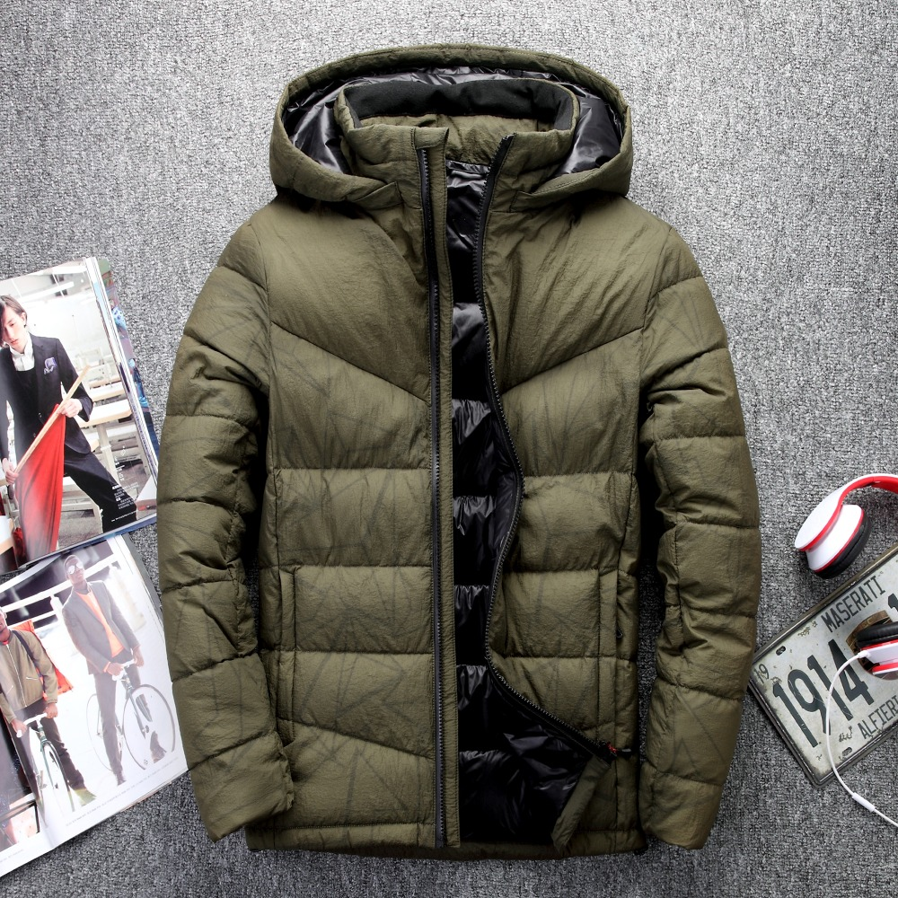 2018 Jaqueta Masculina IN-YESON Brand   Down   Jacket Men Hooded   Down     Coat   Casaco Masculino Inverno White Duck   Down   Winter Men   Coat