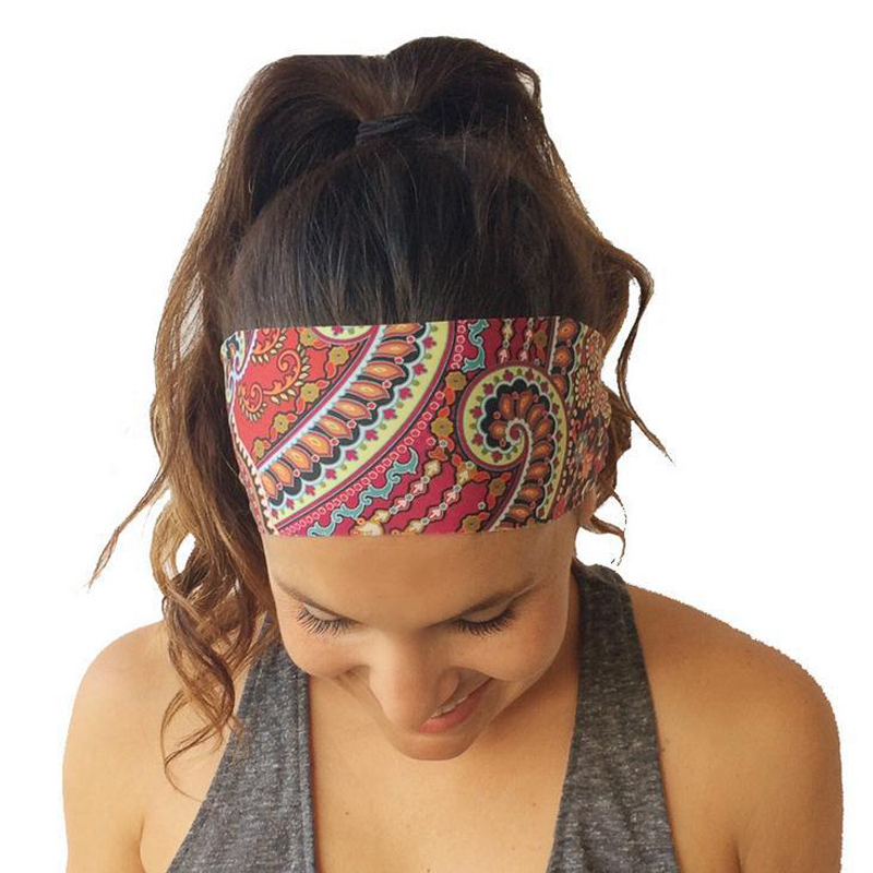 Women Headband Head Scarf Bohemia Elastic Hair band Yoga Sports Girls Hairband Chiffon Headband Ladies Headwear Hair Accessory 1 pcs lot women crystal beads hairband awaytr new black side flower hair band headband for girls 2017 korean style headwear