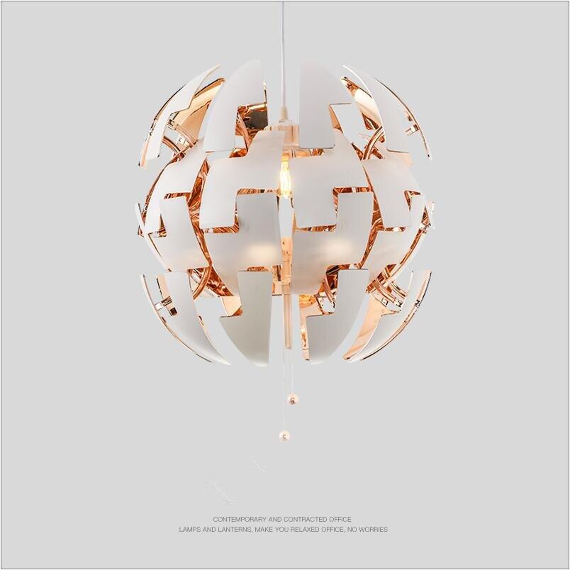 Творческая арт деко Nordic преобразующей светодио дный D35/D50cm античная латунь серебристый внутри снаружи круглый, белый, акриловый подвесной с