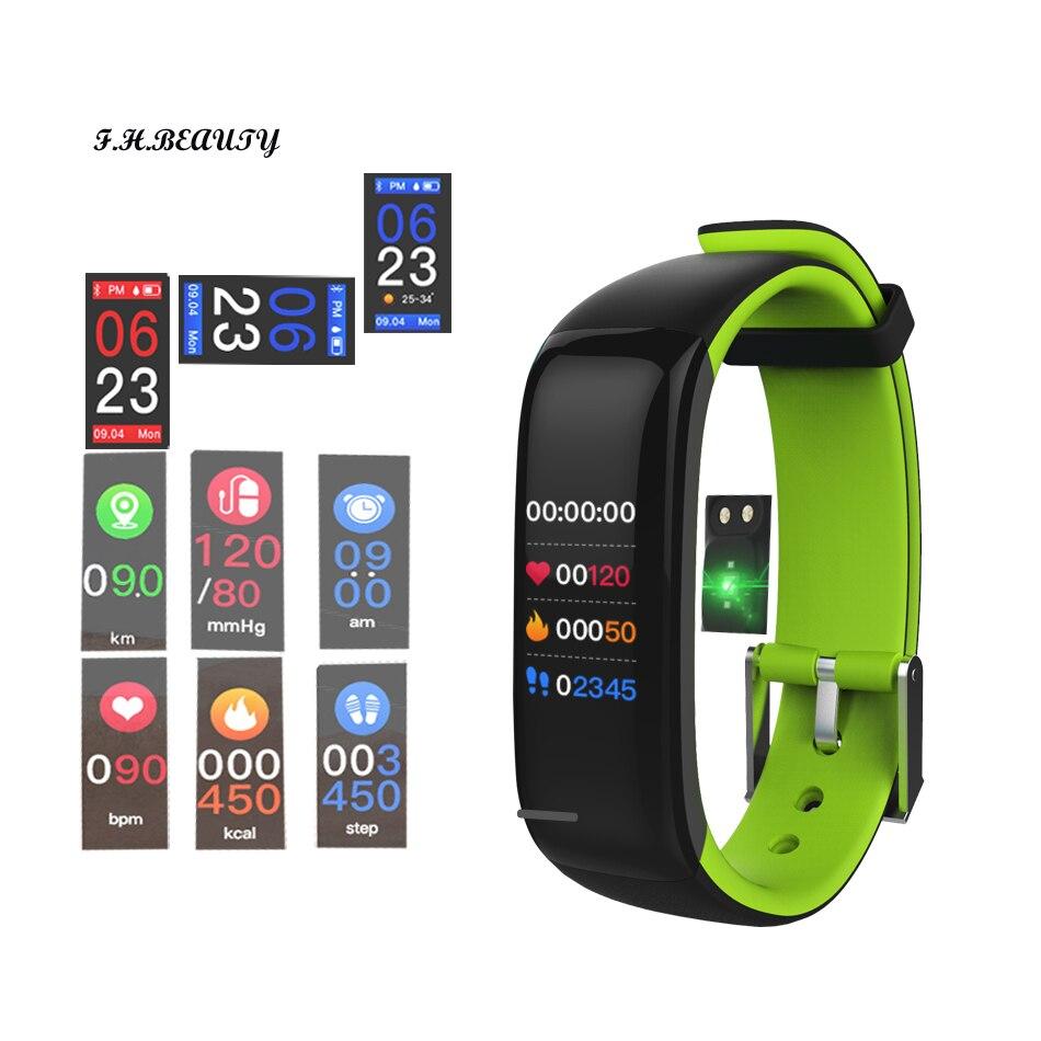 Pedometro Monitor della Pressione Arteriosa Intelligente Banda Monitor di Frequenza Cardiaca Smartband Intelligente Braccialetto Bracciale Fitness