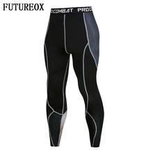 New Trending Men 3D Print Compression Pants Base Layer Exercise Joggers Mens Fitness Anime Fitness Skinny Leggings Male Tights(China)